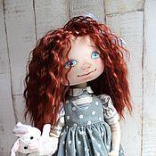 Куклы и игрушки ручной работы. Ярмарка Мастеров - ручная работа Текстильная интерьерная кукла Анечка. Handmade.