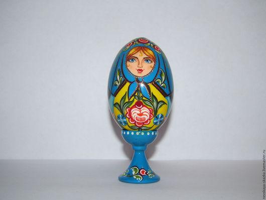 """Яйца ручной работы. Ярмарка Мастеров - ручная работа. Купить Декоративное яйцо на подставке """"Купава"""". Handmade. Комбинированный, яйцо на подставке"""