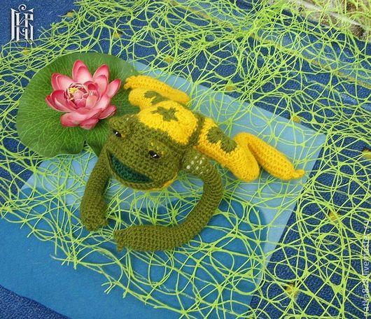 Куклы и игрушки ручной работы. Ярмарка Мастеров - ручная работа. Купить Лягушка из африканского мотива. Handmade. Болотный, ручная работа