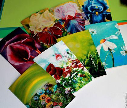 Открытки на все случаи жизни ручной работы. Ярмарка Мастеров - ручная работа. Купить Большой набор открыток Цветы 2. Handmade.