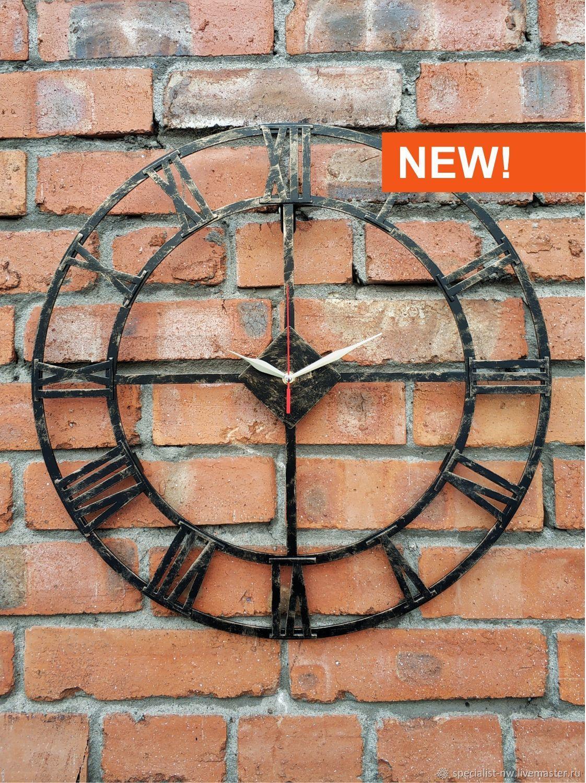 Настенные часы в стиле Лофт с римскими цифрами, Часы классические, Санкт-Петербург,  Фото №1