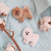 Украшения handmade. Livemaster - original item Brooch felted Pomeranian ( made of wool) to order!. Handmade.
