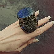 Винтаж handmade. Livemaster - original item Huge Afghan lapis lazuli rings. Handmade.
