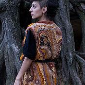 """Одежда ручной работы. Ярмарка Мастеров - ручная работа Длинный жилет """"Осенние мотивы"""" фриформ. Handmade."""