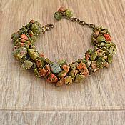 Украшения handmade. Livemaster - original item Unakite una bracelet. Handmade.