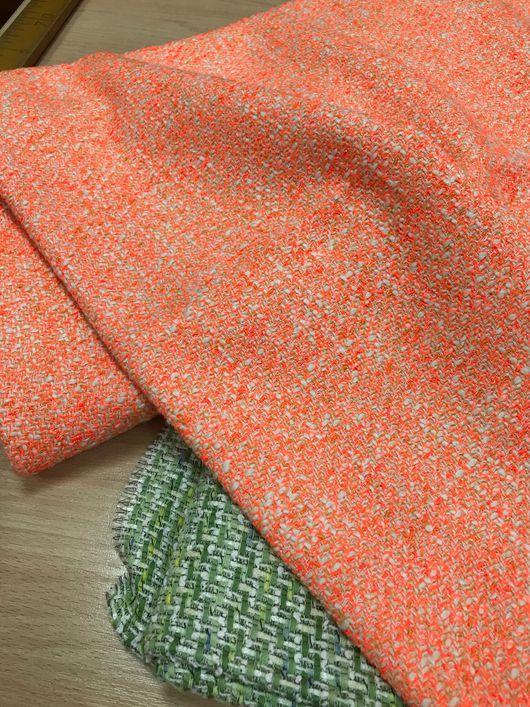 Шитье ручной работы. Ярмарка Мастеров - ручная работа. Купить Летняя шанелька неонового оранжевого цвета. Handmade. Оранжевый