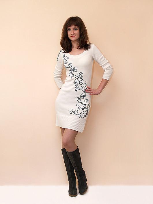 Платья ручной работы. Ярмарка Мастеров - ручная работа. Купить Платье вязаное 4418. Handmade. Платье, нарядное платье
