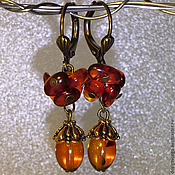 Украшения handmade. Livemaster - original item Amber earrings. Handmade.