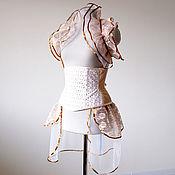 Одежда ручной работы. Ярмарка Мастеров - ручная работа Утягивающий корсет под грудь хэллоуин стимпанк викторианский. Handmade.