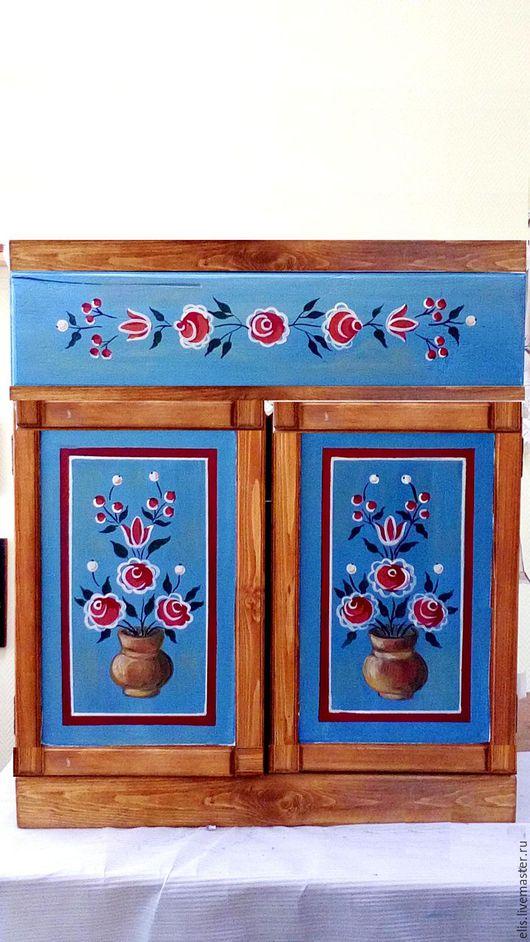 Кухня ручной работы. Ярмарка Мастеров - ручная работа. Купить Комод ручной работы. Handmade. Бирюзовый, подарок мужчине, дача