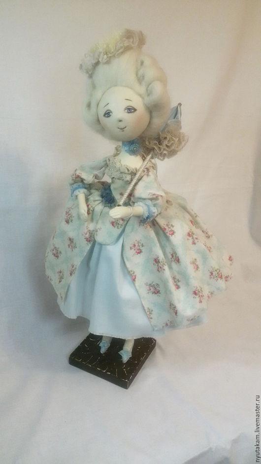 Куклы тыквоголовки ручной работы. Ярмарка Мастеров - ручная работа. Купить Кукла тыквоголовка. На прогулке. Handmade. Комбинированный, кружево