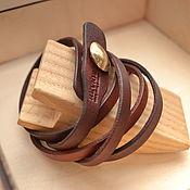 Украшения handmade. Livemaster - original item A leather bracelet wrapped with the coin. Handmade.
