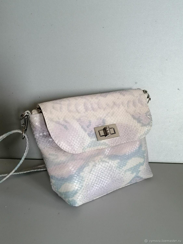 Mini handbag.Shoulder bag on a chain. Python watercolour, Crossbody bag, Krasnodar,  Фото №1