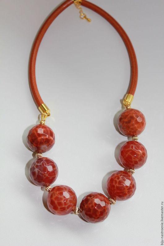 Колье, бусы ручной работы. Ярмарка Мастеров - ручная работа. Купить ожерелье Рыжики. Handmade. Рыжий, подарок подруге