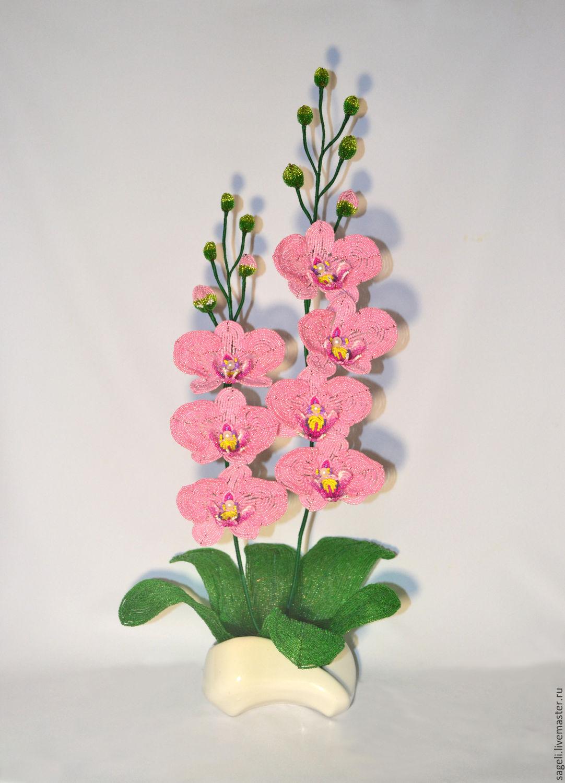 Цветы из бисера орхидея схема фото 395