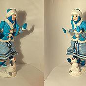 Дед Мороз и Снегурочка ручной работы. Ярмарка Мастеров - ручная работа Снегурочка:. Handmade.