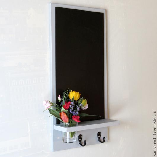 """Мебель ручной работы. Ярмарка Мастеров - ручная работа. Купить Меловая доска """"Марта"""" серого цвета.. Handmade. Мебель"""