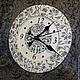 """Часы для дома ручной работы. Часы настенные """"Морозные узоры"""". Творческая мастерская 'Арт-Чердак'. Интернет-магазин Ярмарка Мастеров."""