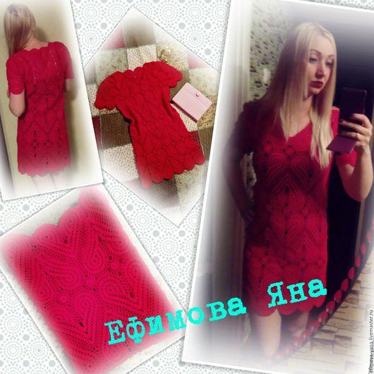 Платья ручной работы. Ярмарка Мастеров - ручная работа. Купить Сердечное красное платье. Handmade. Ярко-красный, сердечко