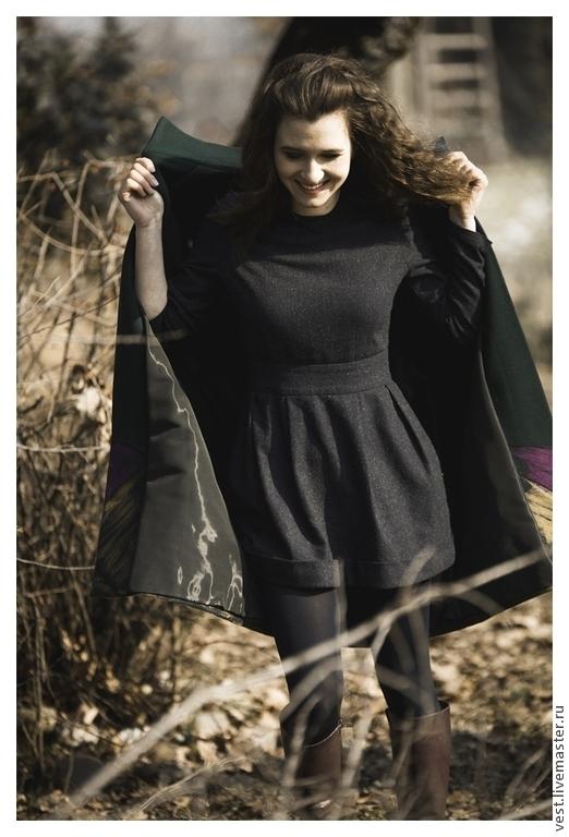 Платья ручной работы. Ярмарка Мастеров - ручная работа. Купить Маленькое твидовое платье.. Handmade. Тёмно-синий, модное платье