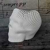 Вазы ручной работы. Ярмарка Мастеров - ручная работа Ваза в виде черепа для хранения и декора. Handmade.