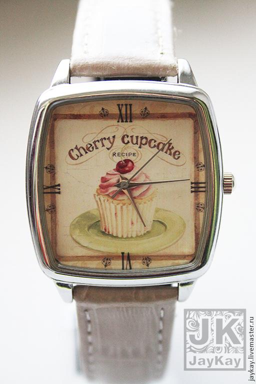 """Часы ручной работы. Ярмарка Мастеров - ручная работа. Купить Часы наручные JK """"капкейк"""". Handmade. Часы, часы в подарок"""