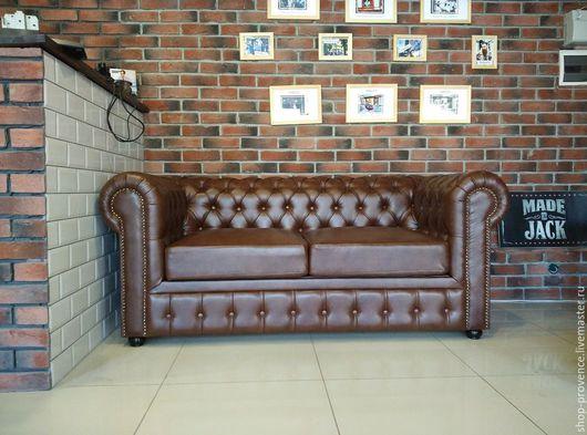 Мебель ручной работы. Ярмарка Мастеров - ручная работа. Купить Диван Честер - мягкий диван с каретной стяжкой - искусственная кожа. Handmade.