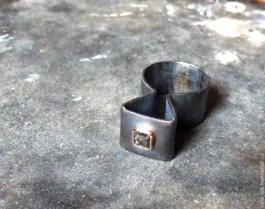 Кольца ручной работы. Ярмарка Мастеров - ручная работа. Купить SECRET кольцо (алмаз, серебро 925, золото 585). Handmade.