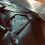 Материалы для творчества handmade. Livemaster - original item Leather: Crust pieces. Black. 1,0-1,5 mm. Purchasing from 2000 rubles.. Handmade.