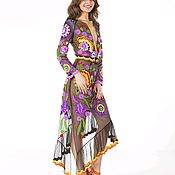 Одежда ручной работы. Ярмарка Мастеров - ручная работа Дизайнерское платье с ручной вышивкой. Handmade.