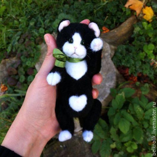 Мишки Тедди ручной работы. Ярмарка Мастеров - ручная работа. Купить Тедди кот Черно-белый котик. Handmade. Тедди
