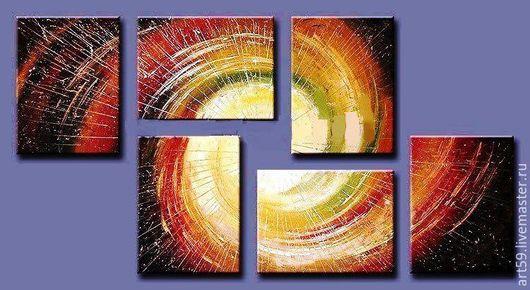 Абстракция ручной работы. Ярмарка Мастеров - ручная работа. Купить Озарение. Handmade. Комбинированный, абстрактная картина, абстрактная живопись
