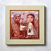 """Картины и панно ручной работы. Ярмарка Мастеров - ручная работа Картина """"Первые подснежники"""" сублимация, авторская печать, SobolevaArt. Handmade."""
