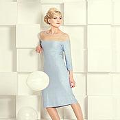 Одежда ручной работы. Ярмарка Мастеров - ручная работа Нежно-голубое платье. Handmade.