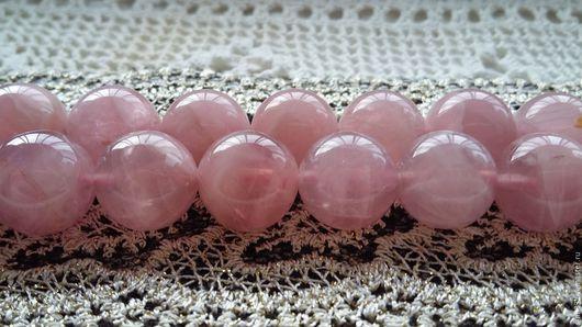 Для украшений ручной работы. Ярмарка Мастеров - ручная работа. Купить Розовый кварц бусины 12 мм. Мадагаскар. Handmade.