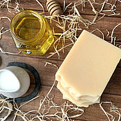 Косметика ручной работы handmade. Livemaster - original item Natural soap with mare`s milk Koumiss, honey and cognac. Handmade.