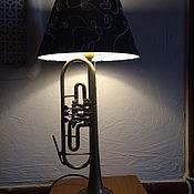 Настольные лампы ручной работы. Ярмарка Мастеров - ручная работа Настольная лампа труба. Handmade.