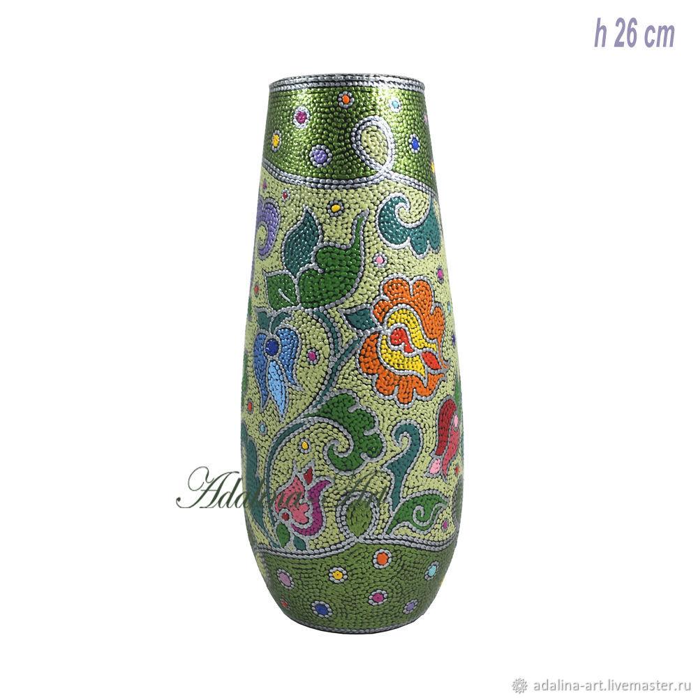 Ваза ЛЮБАВА ваза для цветов Точечная роспись, Вазы, Орехово-Зуево,  Фото №1