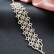 Украшения handmade. Livemaster - original item Lace bracelet frivolite