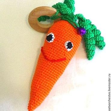 """Куклы и игрушки ручной работы. Ярмарка Мастеров - ручная работа Погремушка """"Морковка"""". Handmade."""