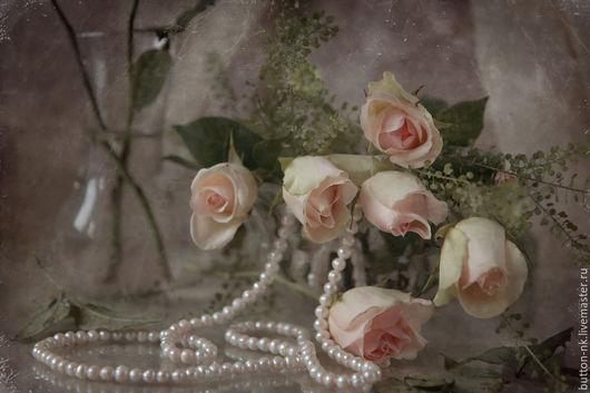 Фотокартины ручной работы. Ярмарка Мастеров - ручная работа. Купить Натюрморт Букет роз. Handmade. Белый, цветы, фотонатюрморт