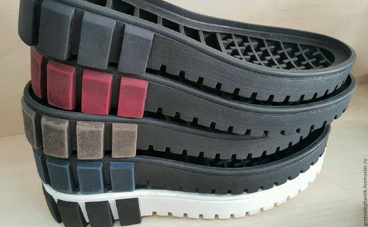 Подошва ТЭП Астра 8  в 6 расцветках -черная,черная-синяя,черная-красная,черная-коричневая, черная-серая,белая-черная