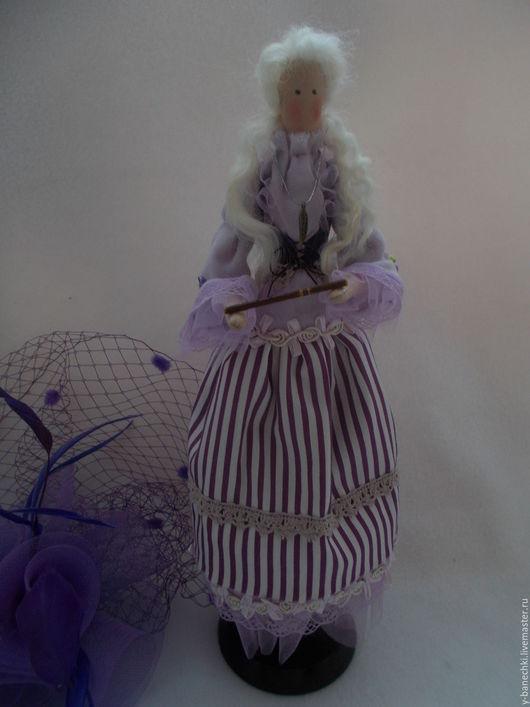 Куклы Тильды ручной работы. Ярмарка Мастеров - ручная работа. Купить Тильда. Девушка с флейтой. Handmade. Сиреневый, тильда, аксессуары