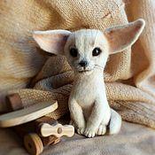 Куклы и игрушки ручной работы. Ярмарка Мастеров - ручная работа Валяная игрушка Пустынная лисичка Фенек. Handmade.