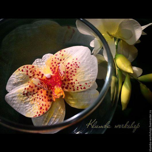"""Броши ручной работы. Ярмарка Мастеров - ручная работа. Купить брошь """" Орхидея"""". Handmade. Комбинированный, орхидея фаленопсис, орхидея"""