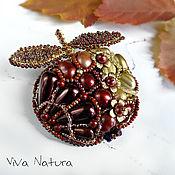 """Украшения handmade. Livemaster - original item Brooch """"Temptation"""" with pearls. Handmade."""