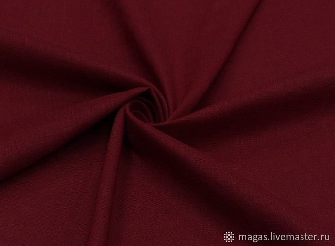 THE FABRIC IS LINEN AND VISCOSE - DARK-RED - GERMANY, Fabric, Moscow,  Фото №1