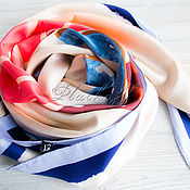 Аксессуары handmade. Livemaster - original item Italian scarf made of fabric Chanel