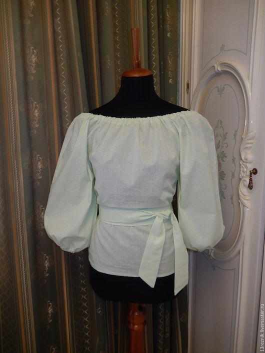 Блузки ручной работы. Ярмарка Мастеров - ручная работа. Купить Блузка на лето. Handmade. Однотонный, блузка женская, блуза из шелка