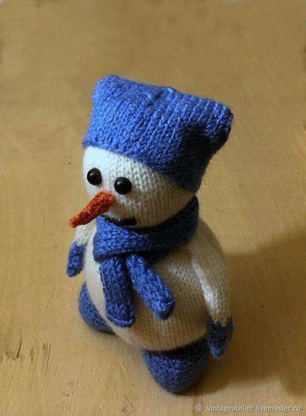 Снеговик вязаный, Мягкие игрушки, Ярославль,  Фото №1